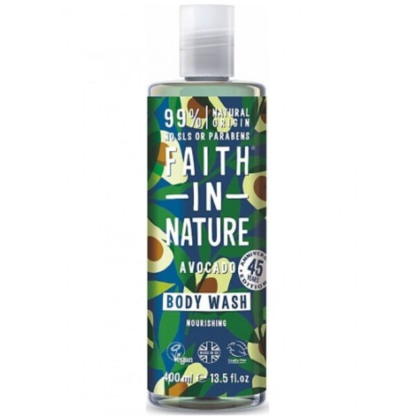 faith in nature body wash avocado 400ml 1