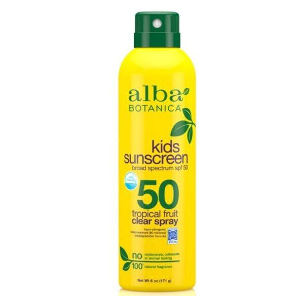 kids sunscreen clear spray spf 50 1