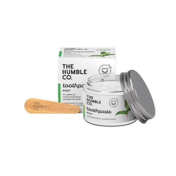 the humble co. toothpaste in glass jar mint 50ml 1 1