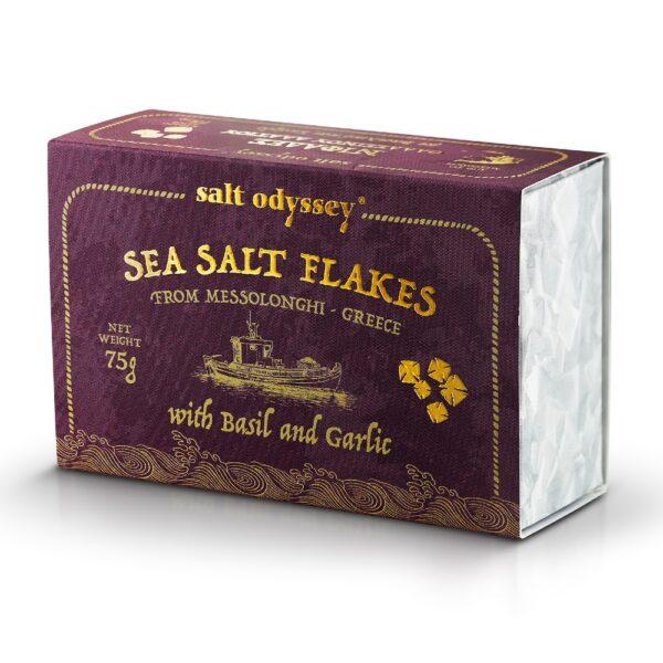 18. Salt Odyssey Sea Salt Flakes Basil and Garlic