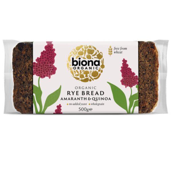 biona rye bread amaranth quinoa 1